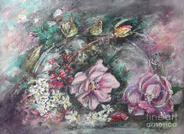 Painting - Mid-winter Artist's Garden Flowers by Ryn Shell