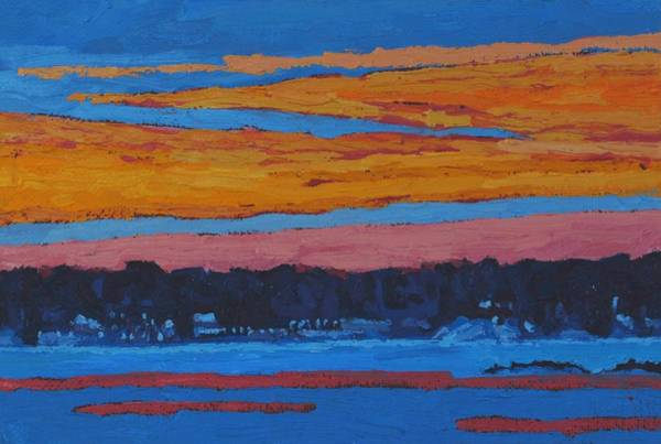 Painting - Mid Winter Singleton Sunset by Phil Chadwick