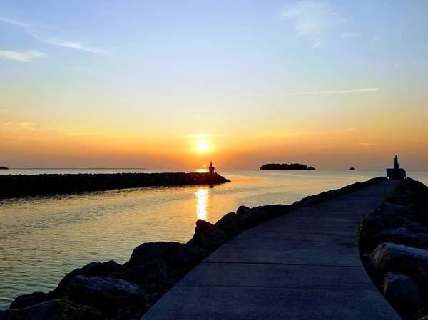 Middle Bass Island Photograph - Middle Bass Marina Waterway Sunrise by Monica Donaldson Stewart