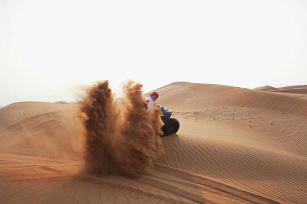 Motorcycle Racing Photograph - Middle Eastern Culture Youths On A Quad by Katarina Premfors