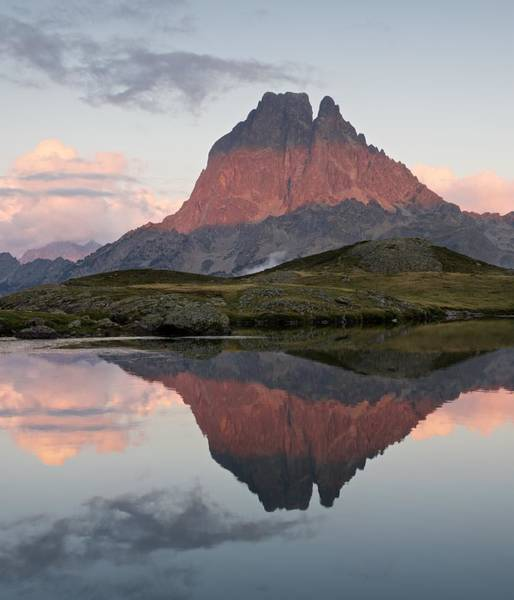 Photograph - Midi D'ossau Reflection by Stephen Taylor