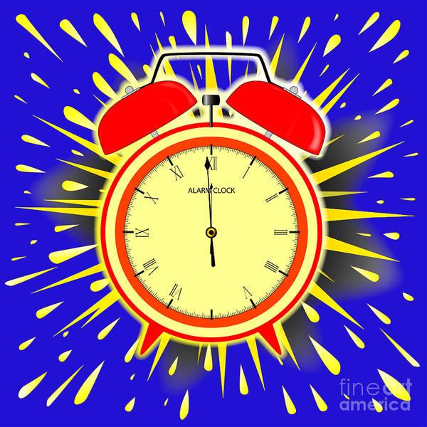 Wall Art - Digital Art - Midnight Alarm Clock by Bigalbaloo Stock