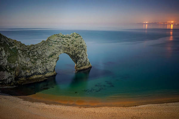 Wall Art - Photograph - Midnight At Durdle Door by George Afostovremea