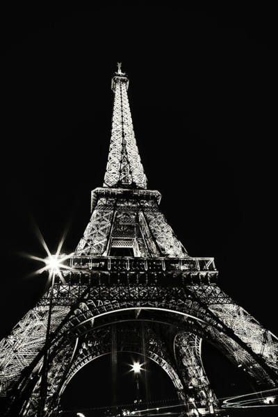 Wall Art - Photograph - Midnight At The Eiffel Tower - Historic Edition by Kamil Swiatek