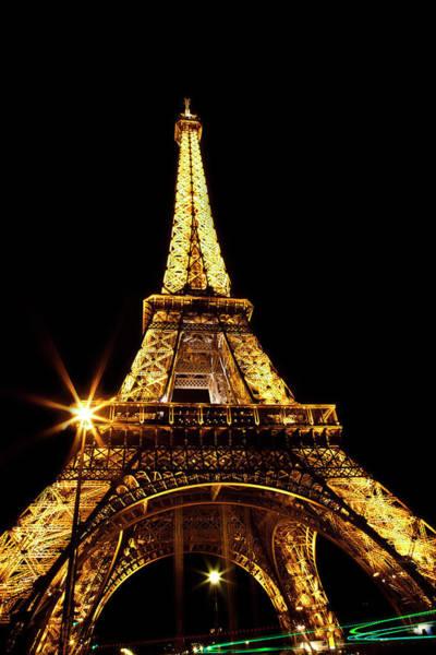Wall Art - Photograph - Midnight At The Eiffel Tower by Kamil Swiatek