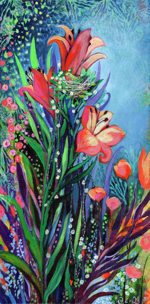 Wall Art - Painting - Midnight Garden by Jennifer Lommers
