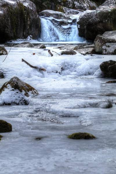 Photograph - Midnight Hole Freezing Over by Carol Montoya