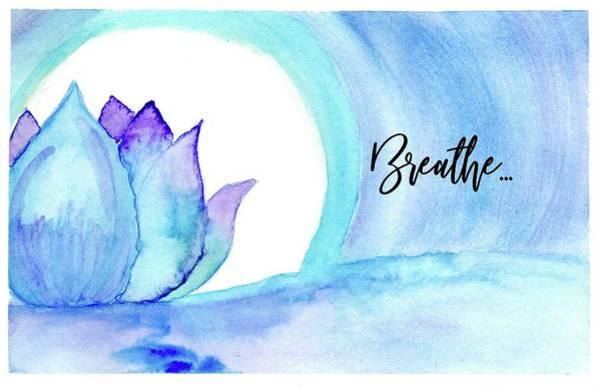 Wall Art - Painting - Midnight Lotus Breathe by Kaye Terrelonge