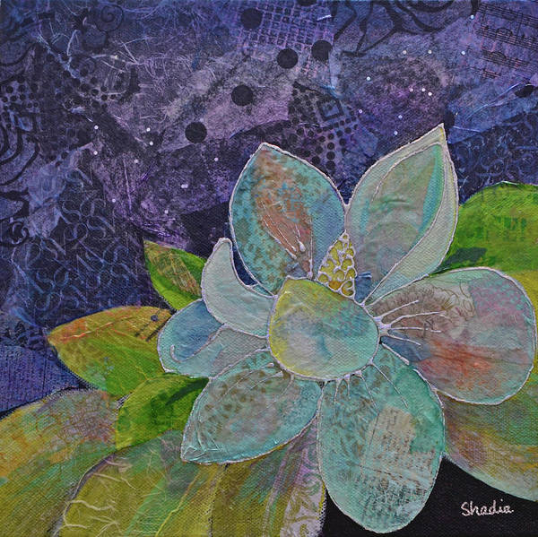 Wall Art - Painting - Midnight Magnolia II by Shadia Derbyshire