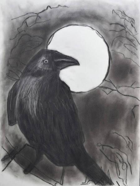 Drawing - Midnight by Nadija Armusik