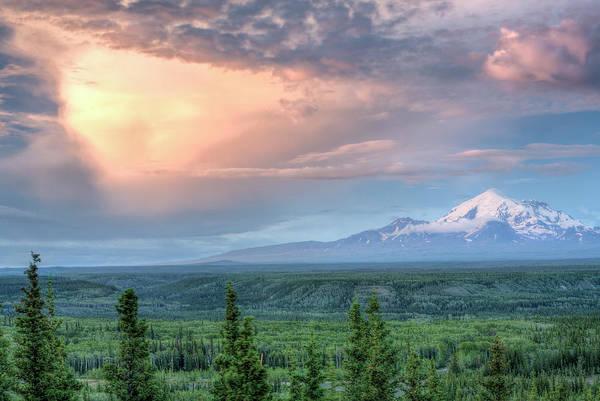 Copper Mountain Photograph - Midnight On Copper River, Alaska, Usa by Danita Delimont