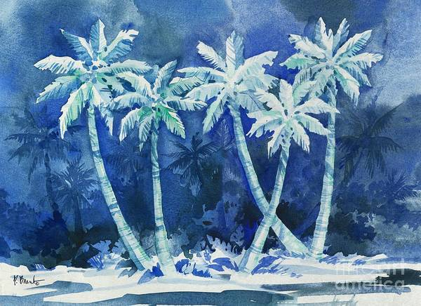 Wall Art - Painting - Midnight Palms Horizontal by Paul Brent