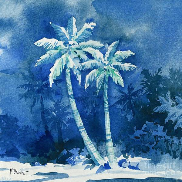 Wall Art - Painting - Midnight Palms I by Paul Brent