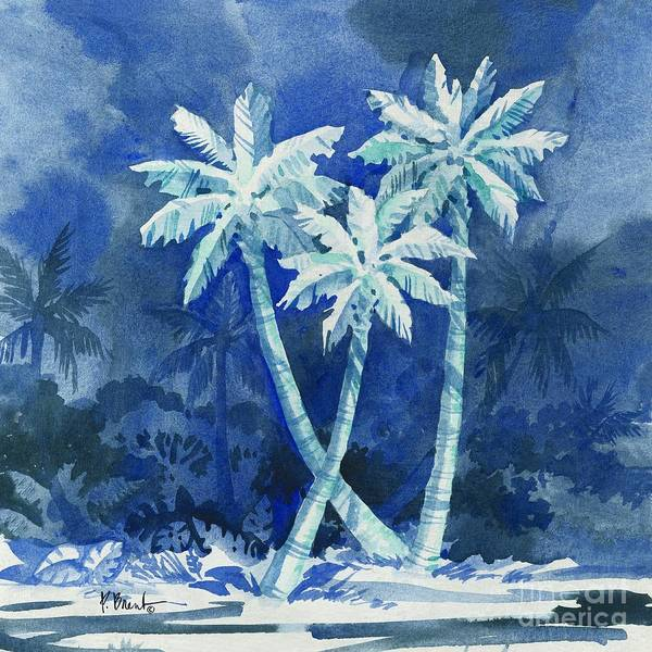 Wall Art - Painting - Midnight Palms II by Paul Brent