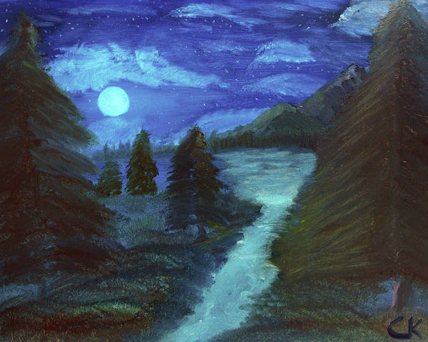Painting - Midnight River by Chance Kafka