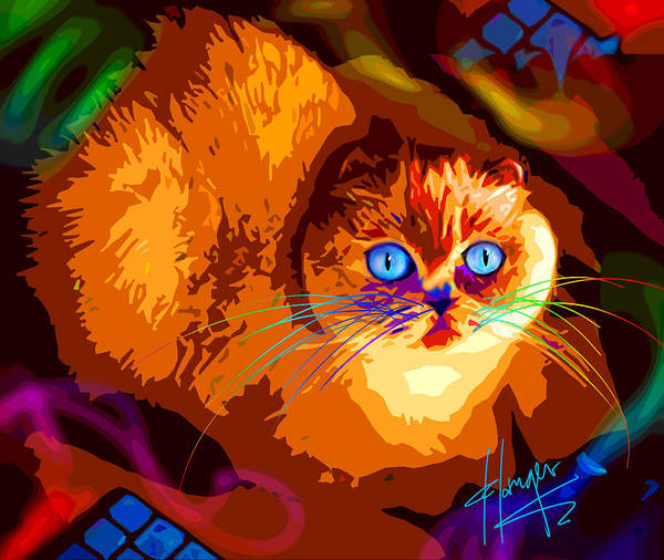 Painting - Midnight Snack Popcat by DC Langer