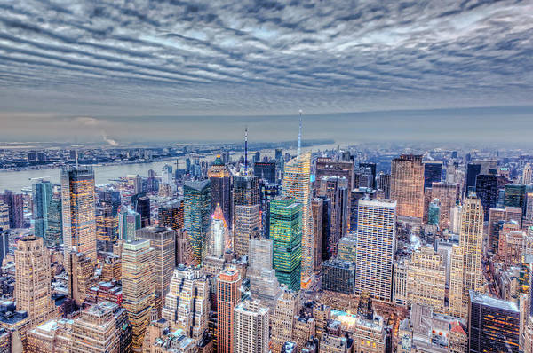 Looking Down Photograph - Midtown Manhattan From Above by Pawel.gaul