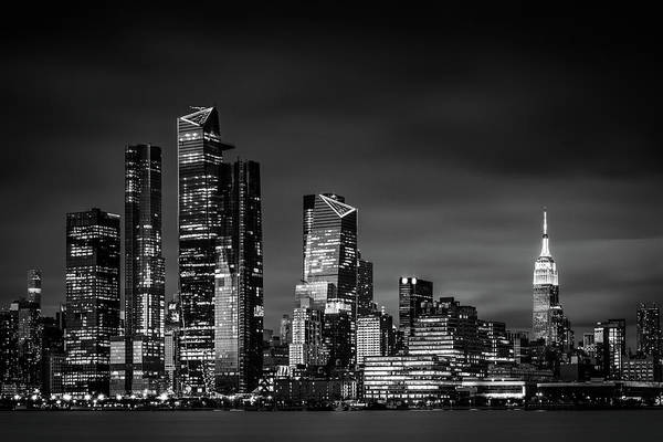 Photograph - Midtown Manhattan In Black And White by Kristen Wilkinson