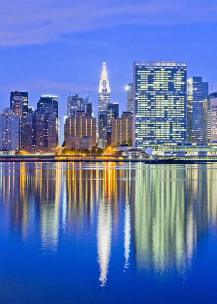 Long Island City Photograph - Midtown Manhattan Skyline At Dawn by John Cardasis