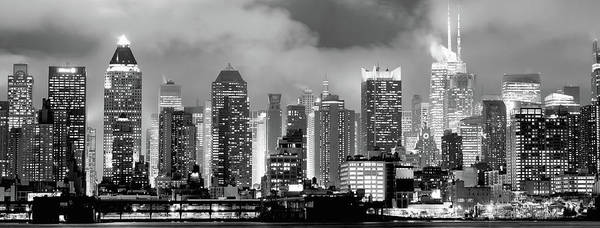 Photograph - Midtown Manhattan Skyline In Monochrome 070919 by Rospotte Photography