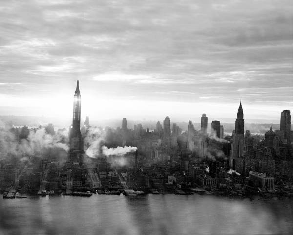 Photograph - Midtown Manhattan With The Empire State by New York Daily News Archive