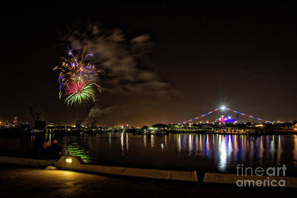 Photograph - Midway Fireworks  by Ken Johnson
