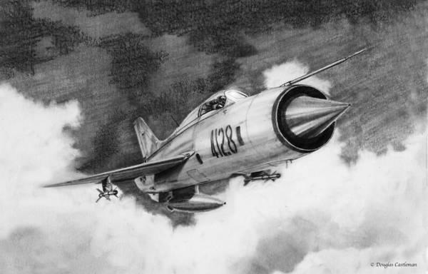 Drawing - Mig-21-pf by Douglas Castleman