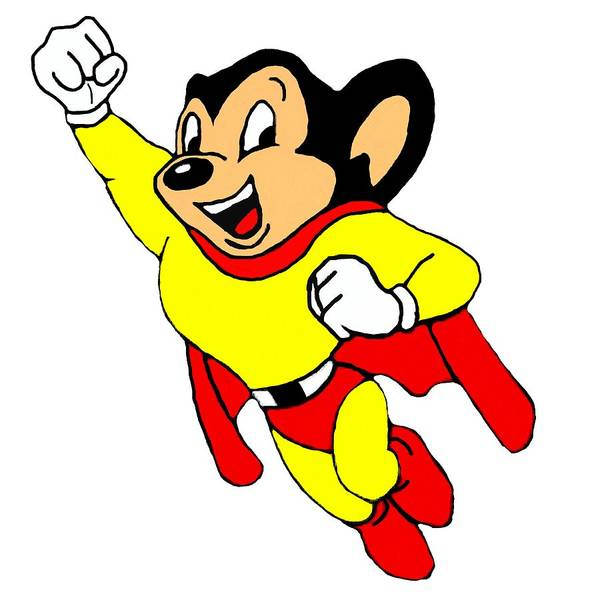 Wall Art - Mixed Media - Mighty Mouse Small But Mighty by Movie Poster Prints