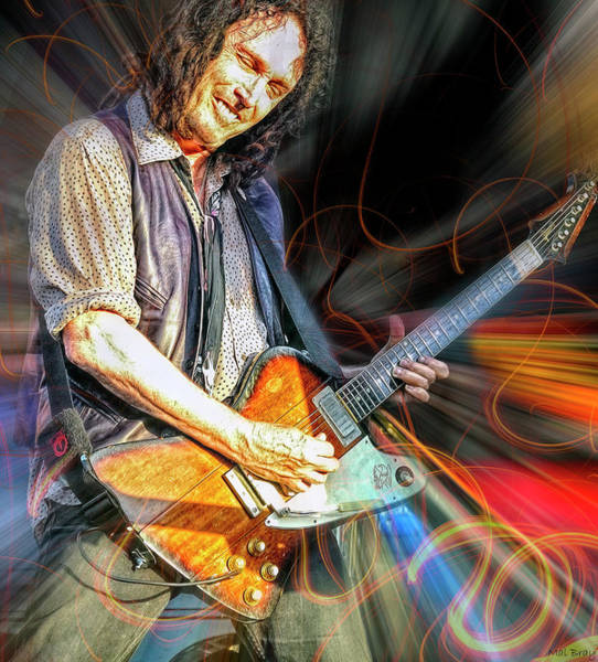 Wall Art - Mixed Media - Mike Campbell by Mal Bray