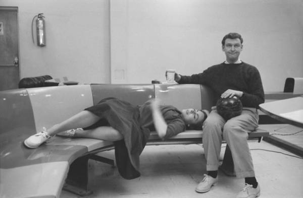 Bowling Alley Photograph - Mike Nichols And Elaine May by Michael Ochs Archives