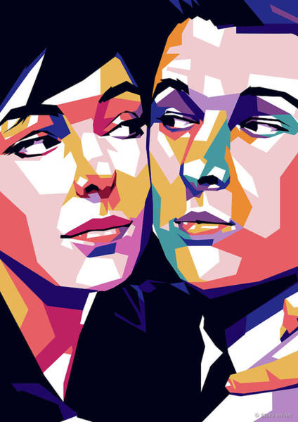 Wall Art - Digital Art - Elaine May And Mike Nichols by Stars on Art
