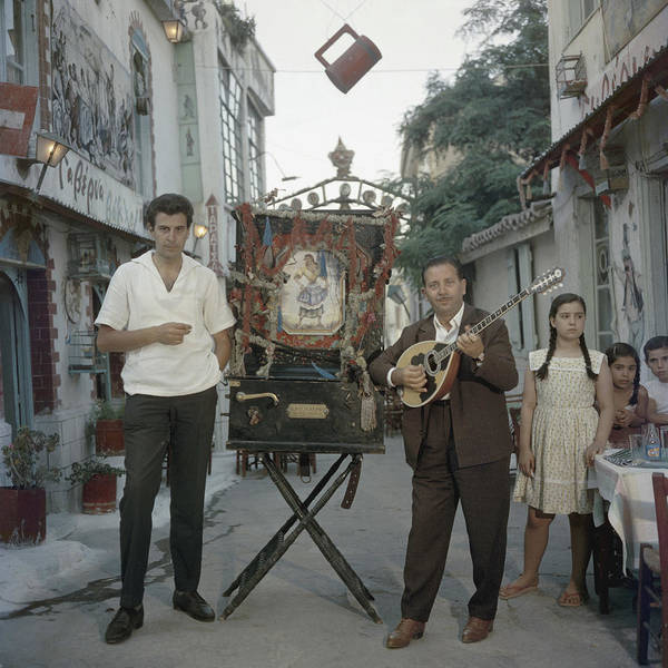 Human Interest Photograph - Mikis Theodorakis by Slim Aarons