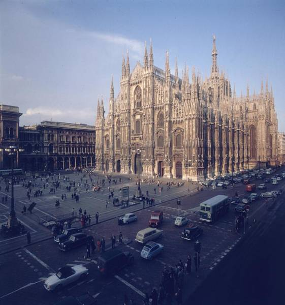 Famous People Photograph - Milan Cathedral by Slim Aarons
