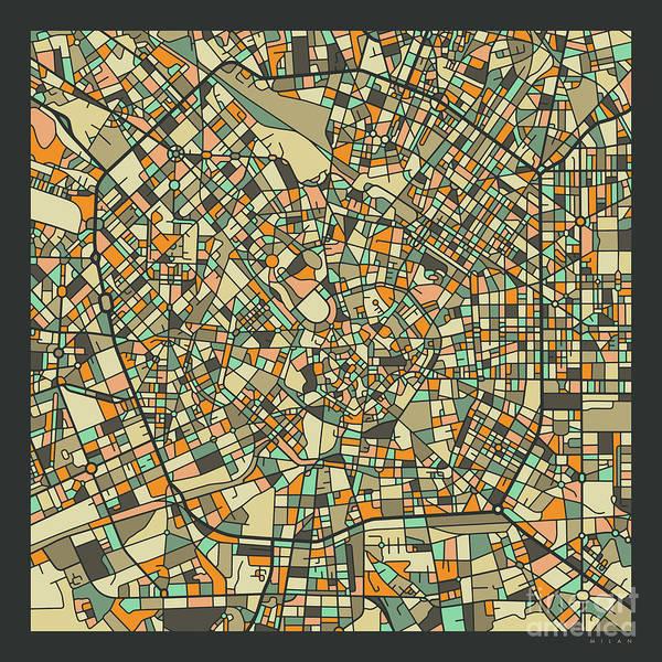 Wall Art - Digital Art - Milan Map 2 by Jazzberry Blue