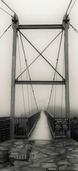 Mile High Swinging Bridge - Grandfather Mountain Art Print