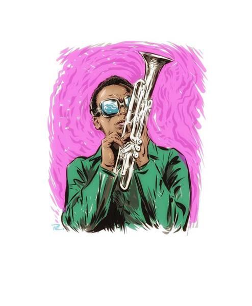 Hard Bop Wall Art - Digital Art - Miles Davis - An Illustration By Paul Cemmick by David Richardson