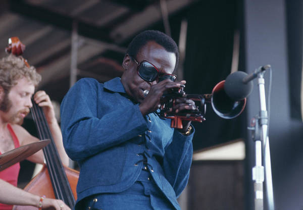 Bassist Wall Art - Photograph - Miles Davis At Newport by Archive Photos