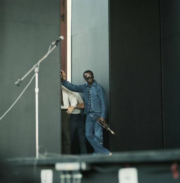 Side View Photograph - Miles Davis by David Redfern