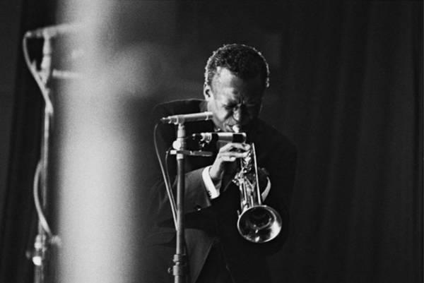Concert Hall Photograph - Miles Davis In Paris, France In 1964 - by Herve Gloaguen
