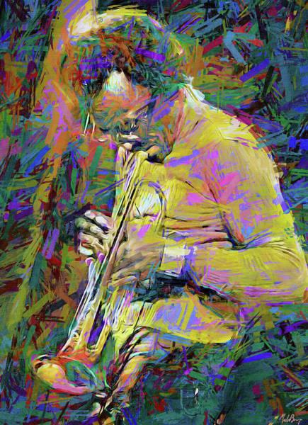 Trumpet Mixed Media - Miles Davis  by Mal Bray