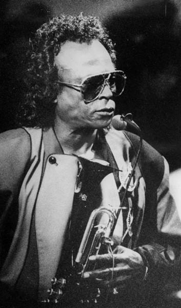 Photograph - Miles Davis Performing In A Club by New York Daily News Archive