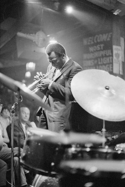 Miles Davis Performing In Nightclub Art Print by Bettmann