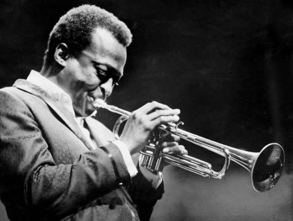 Usa Photograph - Miles Davis Performs At The Newport by New York Daily News Archive