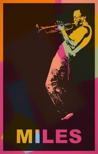 Mixed Media - Miles Davis Pop Art by Dan Sproul