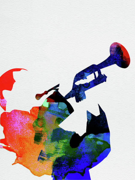 Rock And Roll Mixed Media - Miles Davis Watercolor by Naxart Studio