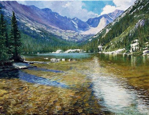 Andrew Jackson Wall Art - Painting - Mills Lake by Andrew Jackson