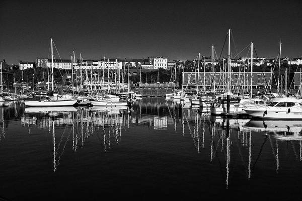 Photograph - Milford Haven Marina Monochrome by Steve Purnell