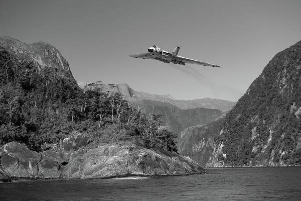 Photograph - Milford Sound Vulcan Bw Version by Gary Eason
