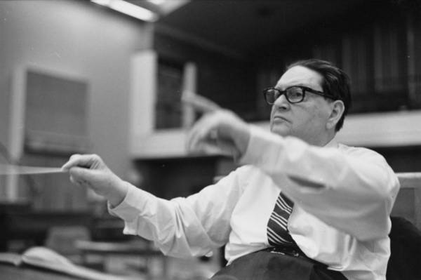 Photograph - Milhaud Conducting by Erich Auerbach