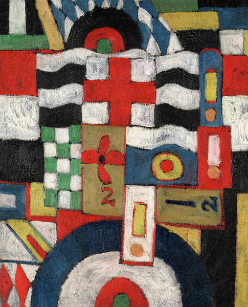 Wall Art - Painting - Military, 1914-1915 by Marsden Hartley